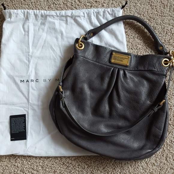 22aa5889cf6 Marc By Marc Jacobs Bags | Marc Jacobs Grey Classic Q Hillier Hobo ...